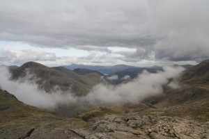View from the summit of Scafell Pike
