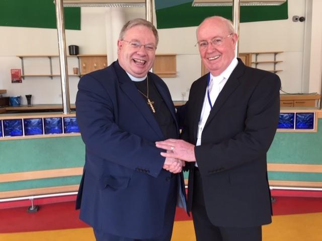 The Revd Marcus Robinson and Derek Estill