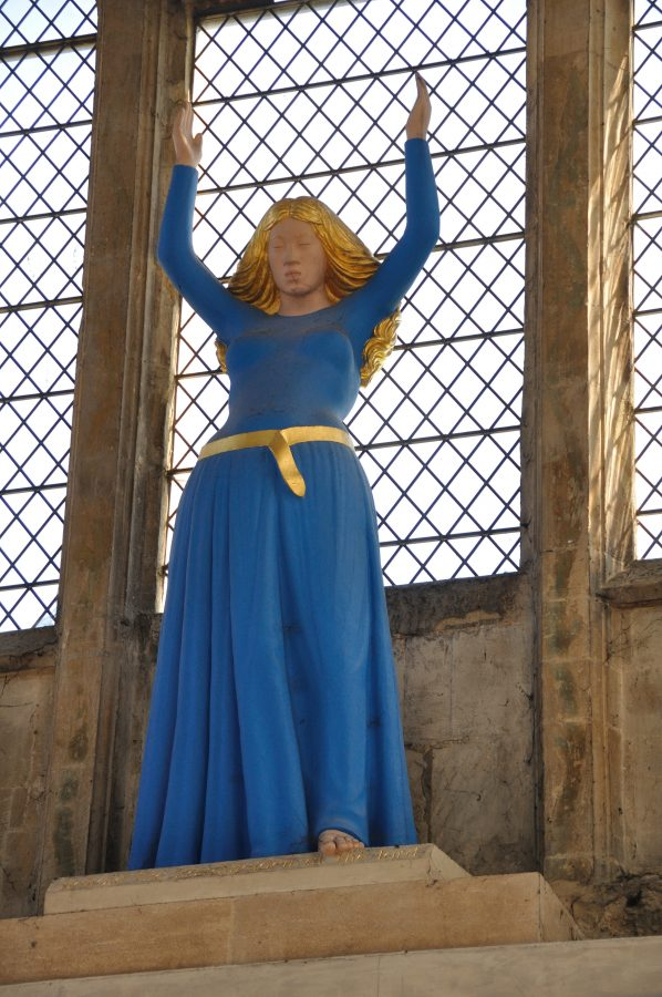 Statue of Blessed Virgin Mary (2000) by David Wynne (1926-2014) in the Lady Chapel of Ely Cathedral