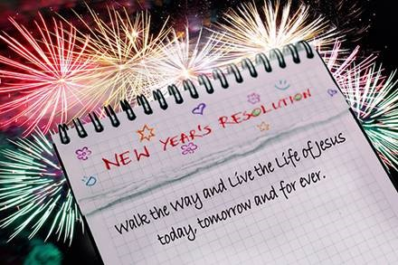 New Years resolution and fireworks image