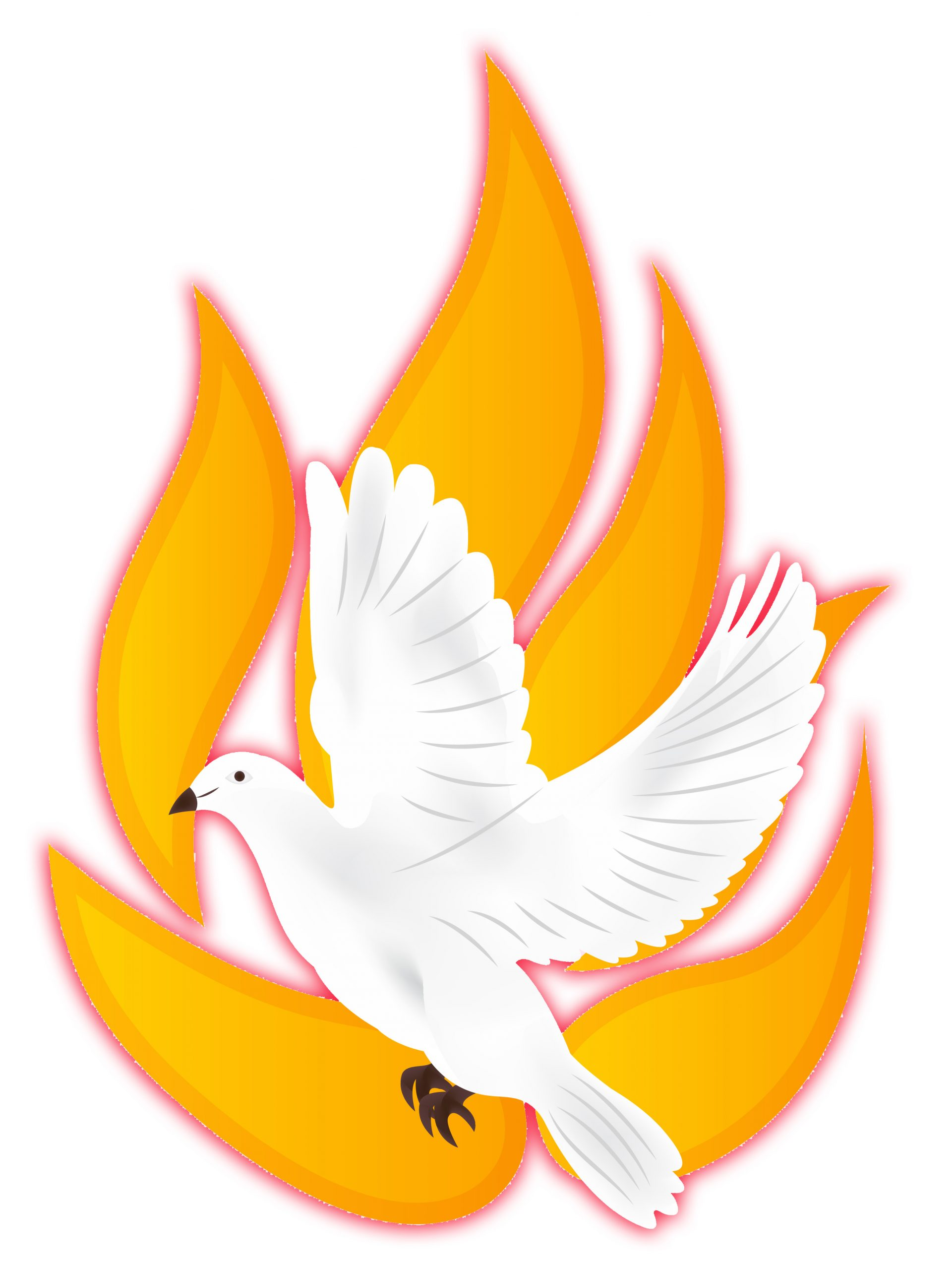 Flames and Dove Pentecost image